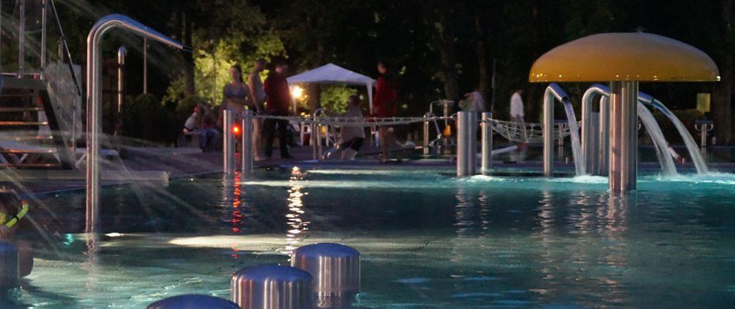 Nocne pływanie na Kętrzyniance