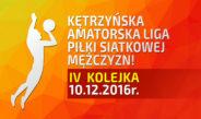 4 Kolejka Kętrzyńskiej Amatorskiej Ligi Piłki Siatkowej Mężczyzn